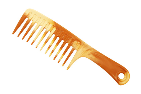 comb hair: Hair comb isolated on white background Stock Photo