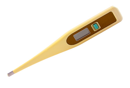 digital thermometer: Medical digital thermometer isolated on white background