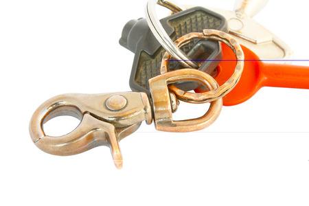 bibelot: Old keychain isolated on white background