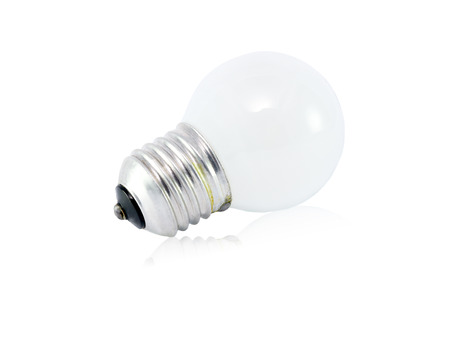 incandescent: Incandescent lamp isolated on white background