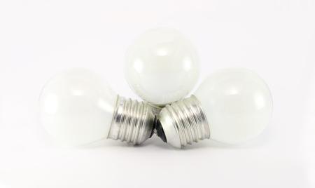 matt: Incandescent matt white light bulb E27  isolated on white background