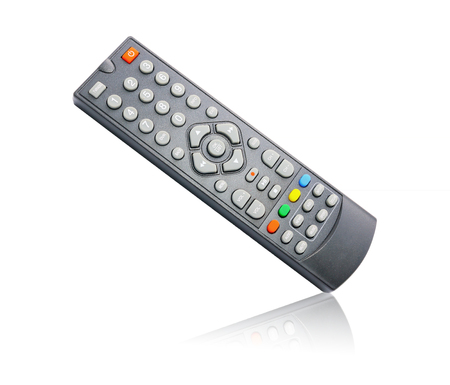vcr: Remote control for cable TV set on white background