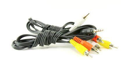av: AV cable isolated on white background Stock Photo