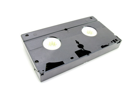 vcr: Old VHS Video tape isolated on white background Stock Photo