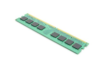 dimm: RAM module for the personal computer on a white background