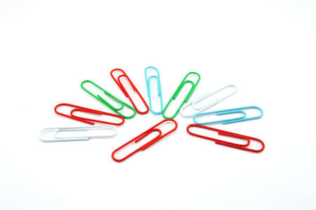 paperclips: Paperclips isolated on white background