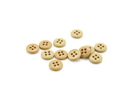 clothing buttons: Clothing buttons on white background