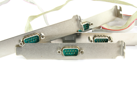 pci card: Computer serial port on white background