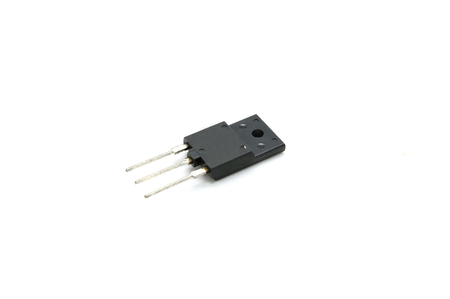 semiconductor: Old Semi-Conductor on white background