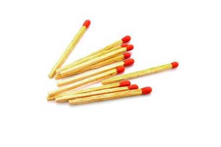 unused: Matches on white background Stock Photo