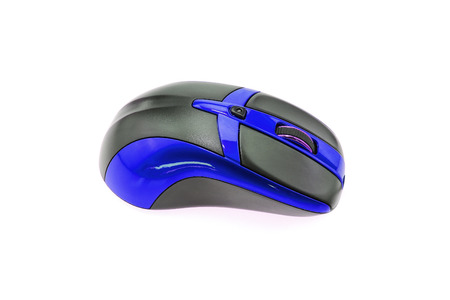 input device: Computer mouse on white background