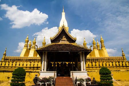 Golden Wat That Luang, Vientiane, Laos