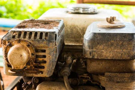 old rusty engine of lawnmower Stock Photo - 21014863