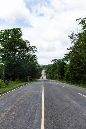 asphalt road in thailand Stock Photo - 21015188
