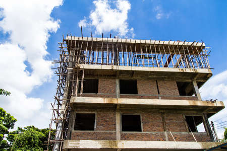 Building construction with blue sky background Stock Photo - 21015203