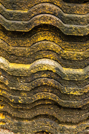 Piles of old roof tiles Stock Photo - 21015279