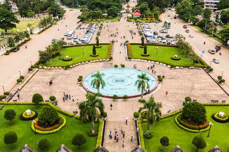 View from Patuxai, Vientiane, Laos