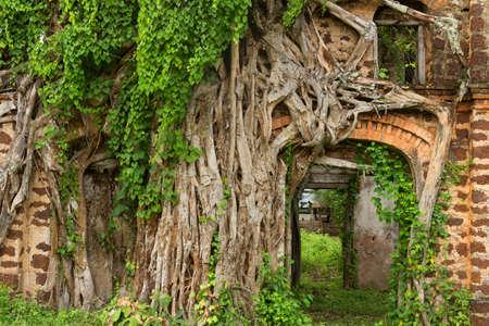 Colonial ruin in Tha Rae, Sakon Nakhon, Thailand