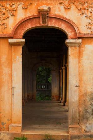 Colonial old building style at Tharae, Sakon Nakhon, Thailand.