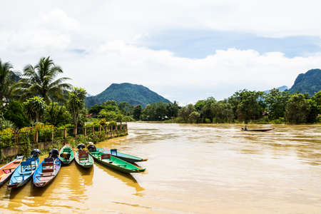 karst: the beautiful landscape of vang vieng,laos