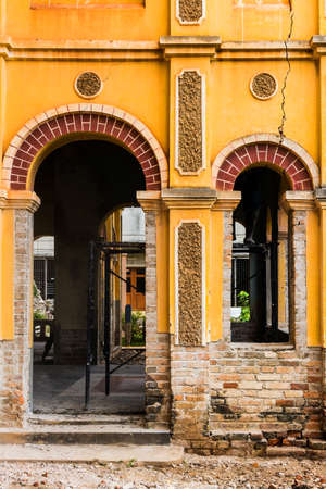 reparations: Refurbishment of the colonial old building at Nakhon Panom, Thailand