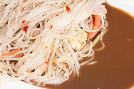 Thai papaya salad or Som Tum (traditional thai food) Zdjęcie Seryjne
