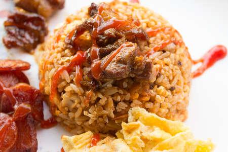 fry rice with the shrimp paste, Thai food Zdjęcie Seryjne
