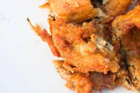 Frame of fried chicken , thai street food. Zdjęcie Seryjne