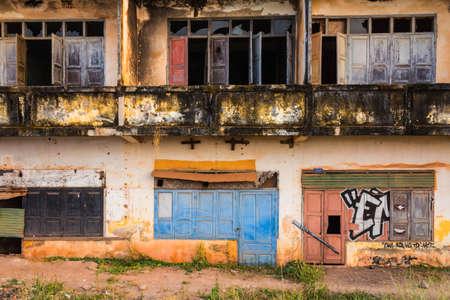 ビエンチャン、ラオスの植民地時代の遺跡。 報道画像