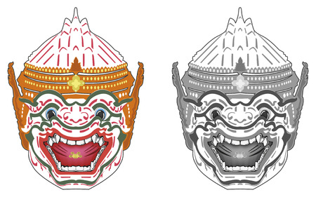 thai dance: Hanuman
