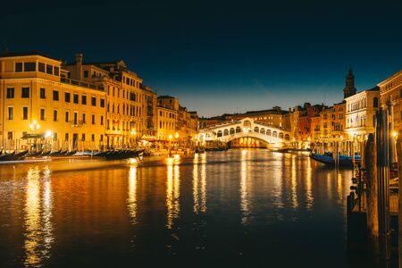 Rialto Bridge (Ponte Di Rialto) in Venice , Italy during the event