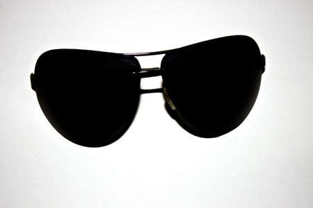 dark sunglasses on a white background Stock Photo - 15888235