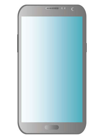 touchscreen smartphone on a white background