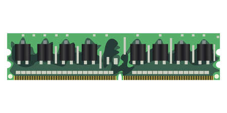 bytes: module of RAM on a white background