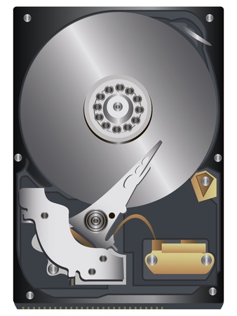 data recovery: original hard disk on a white background
