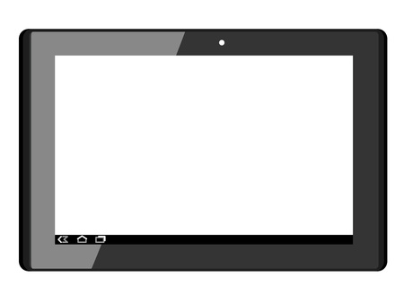 a touch pad on a white background Illustration
