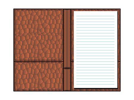 crocodile skin: open notebook in covers made of crocodile skin