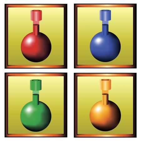 four icons with different magical potions Stock Vector - 18517433