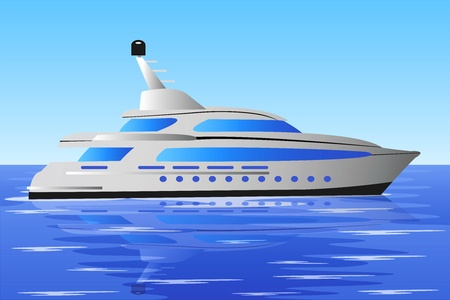 fast modern, comfortable yacht on the open sea