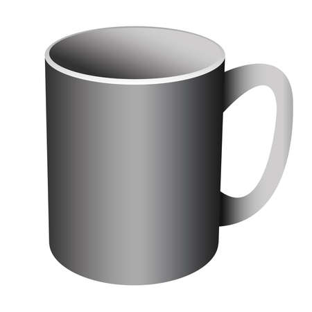ceramic mug with a pen on a white background Stock Vector - 18959343