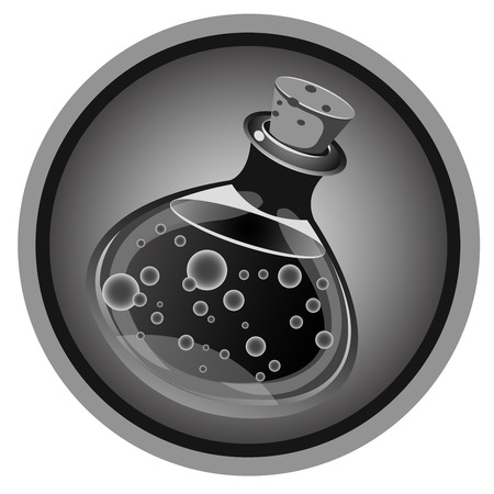 alchemical: black and white icon alchemical shops Illustration