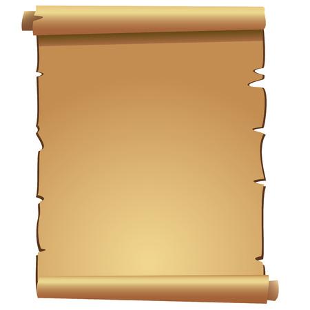 古代スクロール古い白い背景紙  イラスト・ベクター素材