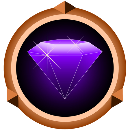 gemstone: icon brilliant gemstone on white background