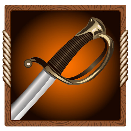 square icon for the game with a pirate sword inside
