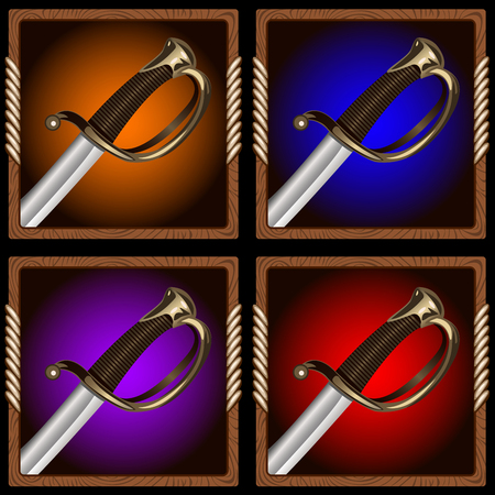 cutlass: square icon for the game with a pirate sword inside