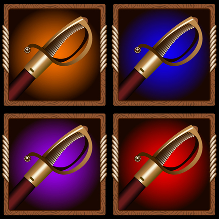 broadsword: square icon for the game with a pirate sword inside