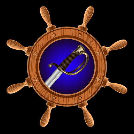 icon in the form of a wheel with a pirate sword inside