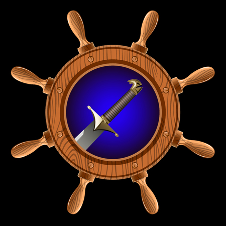 broadsword: icon in the form of a wheel with a pirate sword inside