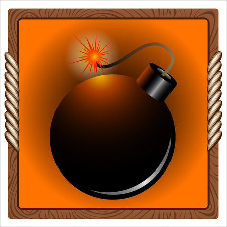 square icon for the game with a pirate bomb inside