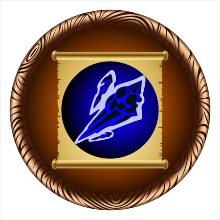 lance: the icon for the game ancient magic scroll of ice lance Illustration